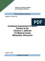Combined Assessment Program Review of the Clement J. Zablocki VA Medical Center Milwaukee, Wisconsin