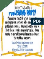 publishing party