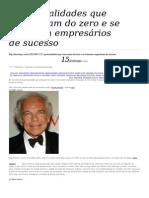 5 Personalidades Que Começaram Do Zero e Se Tornaram Empresários De