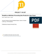 Disability as Multitude - Mitchell