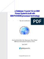 Oracle Database 11g and 12c on IBM Power Systems built with IBM POWER8 processor technology