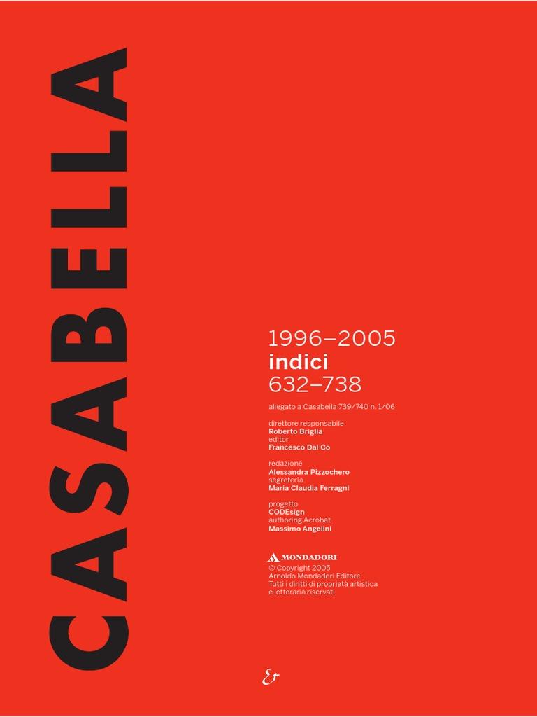 Cassabella Leipzig casabella indici 1996 2005