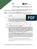 Modificación al Anteproyecto a la Cuarta Resolución de Modificaciones  a la Resolución Miscelánea Fiscal para 2014
