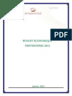 Budget Économique Prévisionnel 2013 (Version Française)