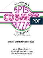 Cosmo's Menu