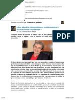 [Nueva entrada] Libre albedrío, determinismo, teoría cuántica y fluctuaciones estadísticas –
