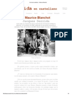 Derrida en Castellano - A Maurice Blanchot