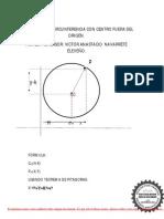Ecuacion de La Circunferencia Con Centro Fuera Del Origen. Por