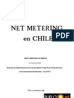 Minuta Propuesta Reglamento Ley 20571 Net Metering