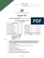 2011 Final Exam
