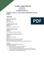 sherronda morrisey resume
