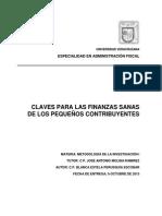 Claves Finanzas Sanas de Los Pequeños Contribuyentes