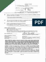 Roy v Turcotte Notice of Appeal Full Package Sept 22 2014