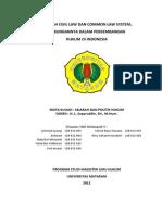 Sejarah Civil Law Dan Common Law System Hubungannya Dalam Perkembangan Hukum Di Indonesia(1)
