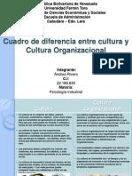 Cuadro Comparativo Cultura y Cultura Organizacional