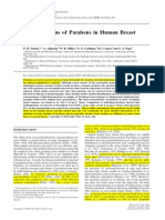 Concentrations of Parabens in Human Breast
