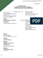INDEMNITY INSURANCE COMPANY OF NORTH AMERICA v. M/V COSCO NAGOYA et al docket