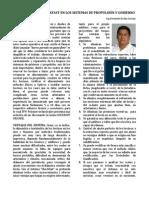 Uso de Resinas Chockfast en Los Sistemas de Propulsion y Gobierno