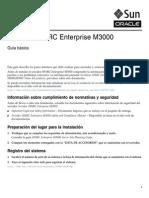 Servidor SPARC Enterprise M3000 Guía Básica