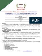 Didactica de Las Lenguas Extranjeras