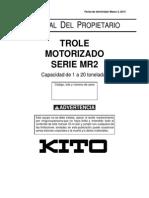 Trole Motorizado Serie Mr2 Kito Mr2om-Ka