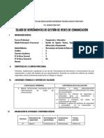 Silabo Modular Herramientas de Gestion de Redes 2014-i