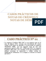 9 Notas de Crédito Casos