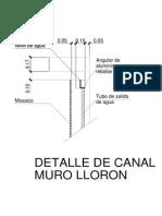 Det. Canal Muro Lloron