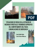 Situaciones de Riesgo en La Extinción de Incendios Forestales. Fenómenos Sopresivos Del Comportam