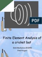 Finite Element Analysis of a Cricket Bat