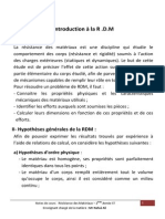 Notes de Cours RDM 2013