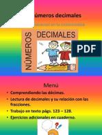 Los Numeros Decimales 4 Basico