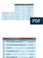 Agenda Diária de Compromissos - 15-09 à 19-09