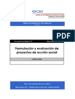 Formulacion y Evaluacion de Proyectos de Accion Social