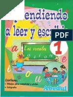 Aprendiendo a Leer y Escribir 1