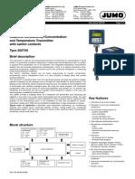 Sensor de Concentración y Temperatura Conductividad