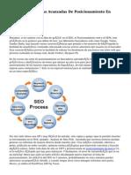 Técnicas Avanzadas De Posicionamiento En Buscadores web.