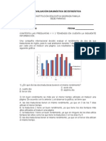 Evaluación Diagnóstica de Estadística