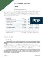 final pro forma lpfm financial plan