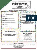 Newsletter September 22-26[1]