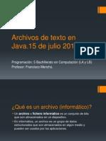 Archivos de Texto Java