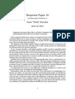 Response Paper 10