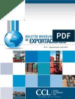 Boletin Mensual de Exportaciones Julio2014 CCL