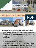 Casas Modulares Vs. Casas manufacturadas
