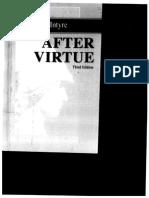 After Virtue Macintyre
