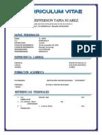Curriculum Vitae Julio