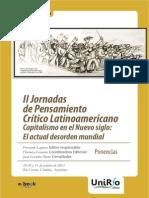 II Jornadas de Pensamiento Crítico Latinoamericano - UNRC