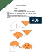 Cabeza de Perro en Origami