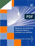 Manual de Politicas Públicas Para El Acceso a La Justicia