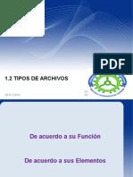 1.2 Tipos de Arvchivos